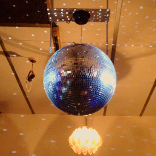 We got a new mirror ball!! #flashy! #disco #dancingwillbecool