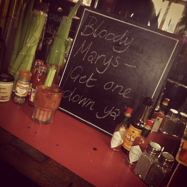 Bloody Mary's served all day. #getonedownya #hungover #sunday #roast #oohmary